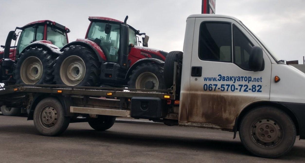 Перевозки трактора, мини-экскаватора на эвакуаторе